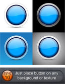 Round glossy buttons. — Stock Vector