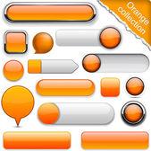 Laranja alta detalhado modernos botões. — Vetorial Stock