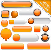 Orange high-detailed modern buttons. — Vector de stock