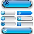 Royalty-Free Stock Vector Image: Plug high-detailed modern buttons.