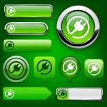 Plug high-detailed modern buttons. — Stock Vector