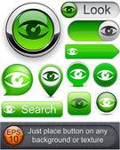 Look high-detailed modern buttons. — Stock Vector
