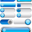 Royalty-Free Stock Vector Image: Aim high-detailed modern buttons.