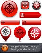 Aim high-detailed modern buttons. — Stock Vector