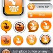 Royalty-Free Stock Vector Image: Add to cart high-detailed modern buttons.