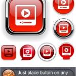 Cuidado con los botones modernos alto detalladas — Vector de stock