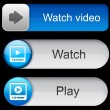 Watch high-detailed modern buttons. — Vetor de Stock  #9474702