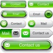 Постер, плакат: E Mail high detailed web button collection
