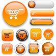 Buy high-detailed web button collection. — Stockvector
