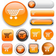 Buy high-detailed web button collection. — Vector de stock