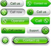 Call high-detailed modern buttons. — Stock Vector