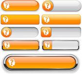 Ask high-detailed web button collection. — Stock Vector