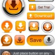 Download high-detailed modern buttons. — Stock Vector #9652869