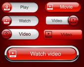 Watch high-detailed modern buttons. — Stock Vector