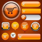Buy high-detailed web button collection. — Stock Vector