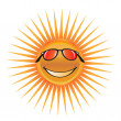 Sun with glasses — Stock Vector