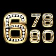 Set of Diamond and gold numbers 6-0 — Stock Vector #10387989