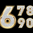Set of Diamond and gold numbers 6-0 — Stock Vector #10391767