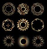 Elementos de design de ouro 1 — Vetor de Stock