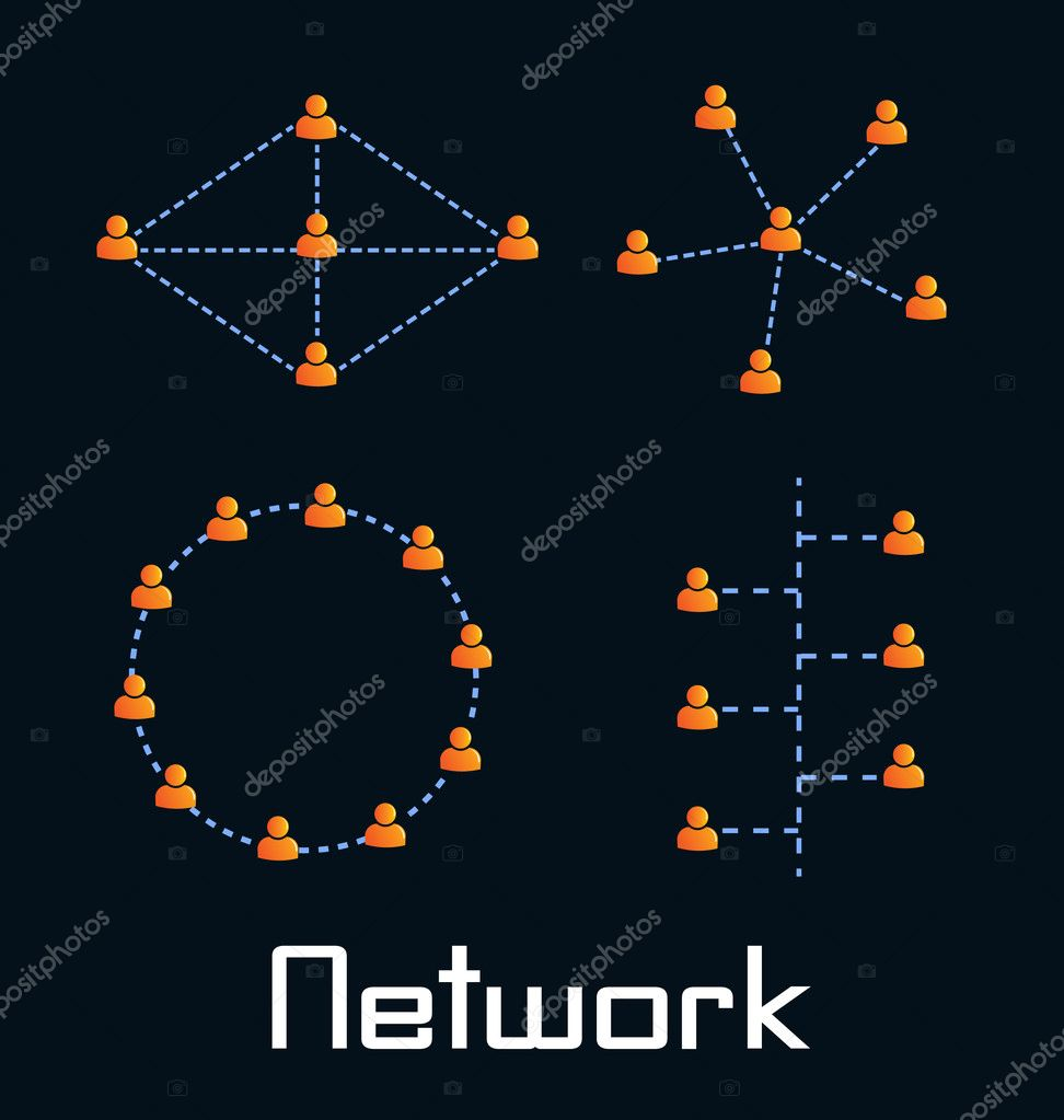 Type of Computing Networks — Stock Vector #10458795