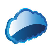 Cloud 3D — Stock Vector