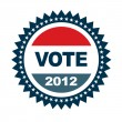 Stock Vector: Badge Vote 2012