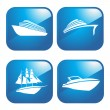 Stock Vector: Icon Boats
