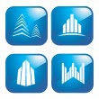 Building icons — Stock Vector #9571051