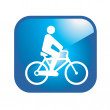 Royalty-Free Stock Vector Image: Bicycle guy icon