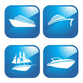 Icon Boats — Stock Vector