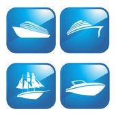 Icon Boats — Stock Vector