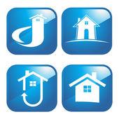Internet houses — Stock Vector