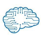 Electronic brain — Stock Vector