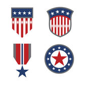 USA patriotic symbols — Stock Vector