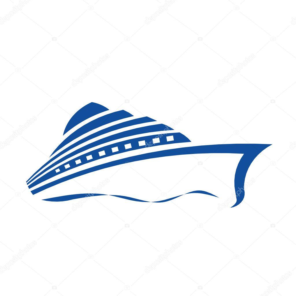 Cruise ship — Stock Vector © deskcube #9571393