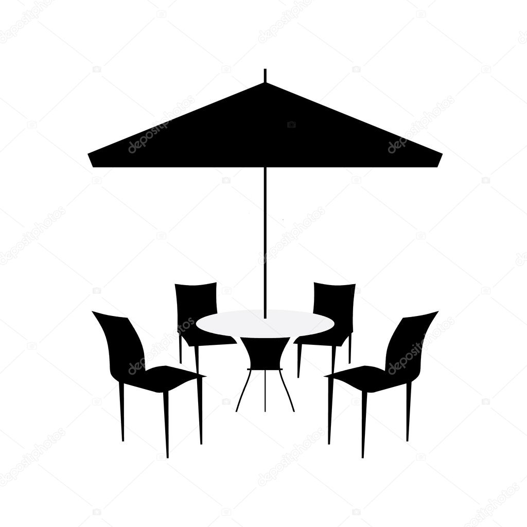 Download - Patio chairs and canopy — Stock Illustration #9571694