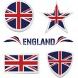 Set of British Icons - Stok Vektr