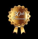 30th anniversary ribbon — Stock Vector