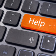 Help key on keyboard, for online supports — Stock Photo #8170816