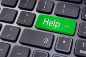 Pomoci klávesa na klávesnici, pro online podporuje — Stock fotografie