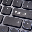 New year message, keyboard pad — Stock Photo