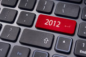 New year 2012, keyboard concepts — Stock Photo
