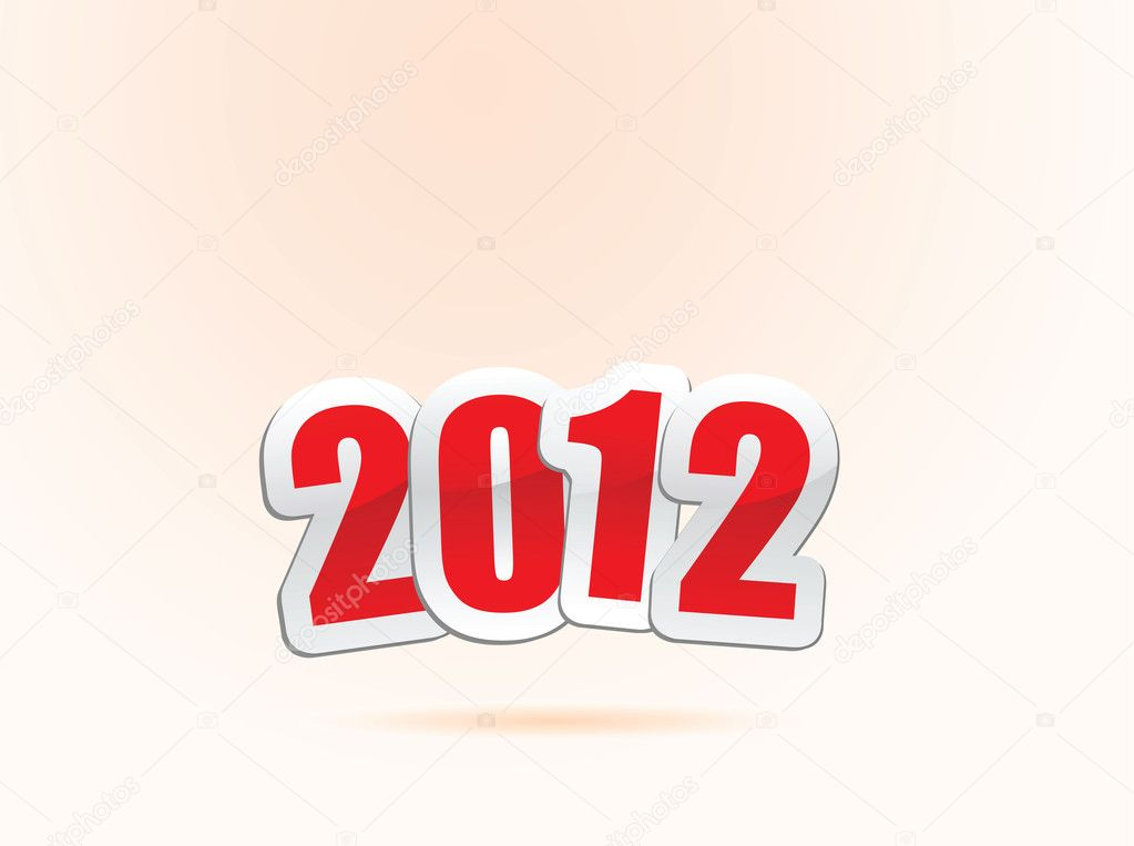 Vector illustrations of new year greetings for 2012. — Stock Vector #8353758