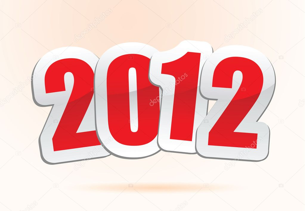 Vector illustrations of new year greetings for 2012. — Stock Vector #8353762