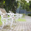 Stock Photo: Bench witn nobody
