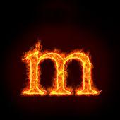 Fuego alfabetos, pequeña letra m — Foto de Stock