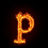 Požární abeced, malé písmeno p — Stock fotografie