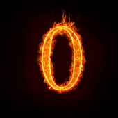 Fire numbers,0 — Stock Photo