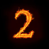 Fire numbers, 2 — Stock Photo