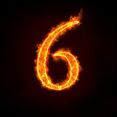 Fire numbers, 6 — Stock Photo